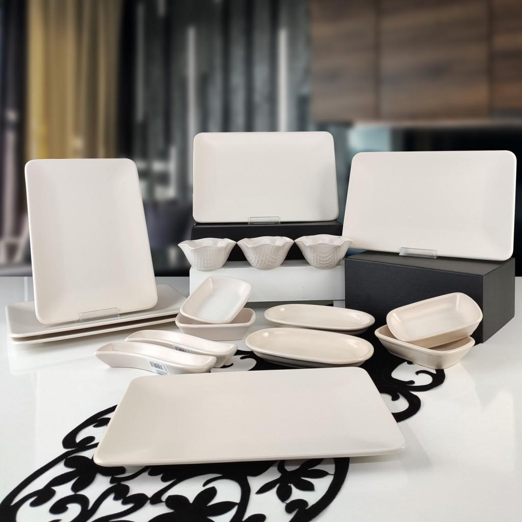Keramika Siera 17 Parça 6 Kişilik Kahvaltı Takımı Krem