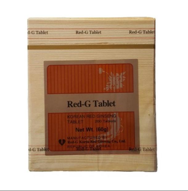Kore Kırmızı Ginseng Tahta Kutu 200 Tablet 60 G