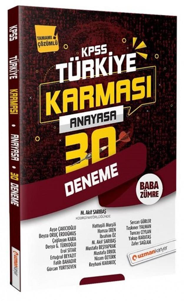 Uzman Kariyer Kpss Anayasa 30 Deneme Türkiye Karması Çözümlü